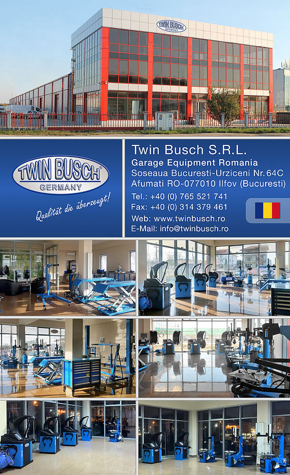 Twin Busch Germany Garage Equimpent - Filiala Bucuresti Afumati