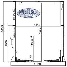 Elevator auto cu 2 coloane, 5 TONE electromagnetic HEAVY LINE