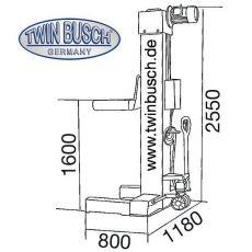 Elevator camioane - 33 tone - TW 550-6