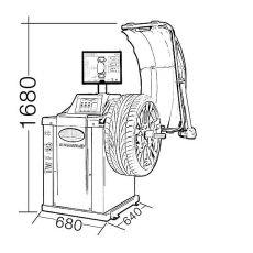 Masina de echilibrat roti profesionala cu Monitor TFT - TW F-95